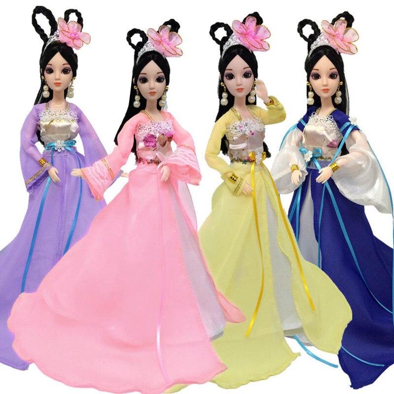 2018 Nova Peosonality Vestido Tradicional Chinês Para A menina Bonecas de Beleza Antiga Roupas Traje Vestido de Festa Vestidos de Noite