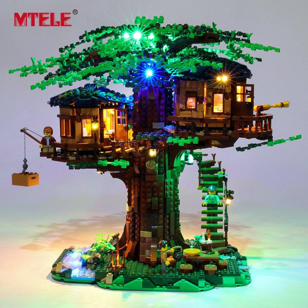 MTELE مجموعة إضاءة LED لأفكار 21318 سلسلة بيت شجرة