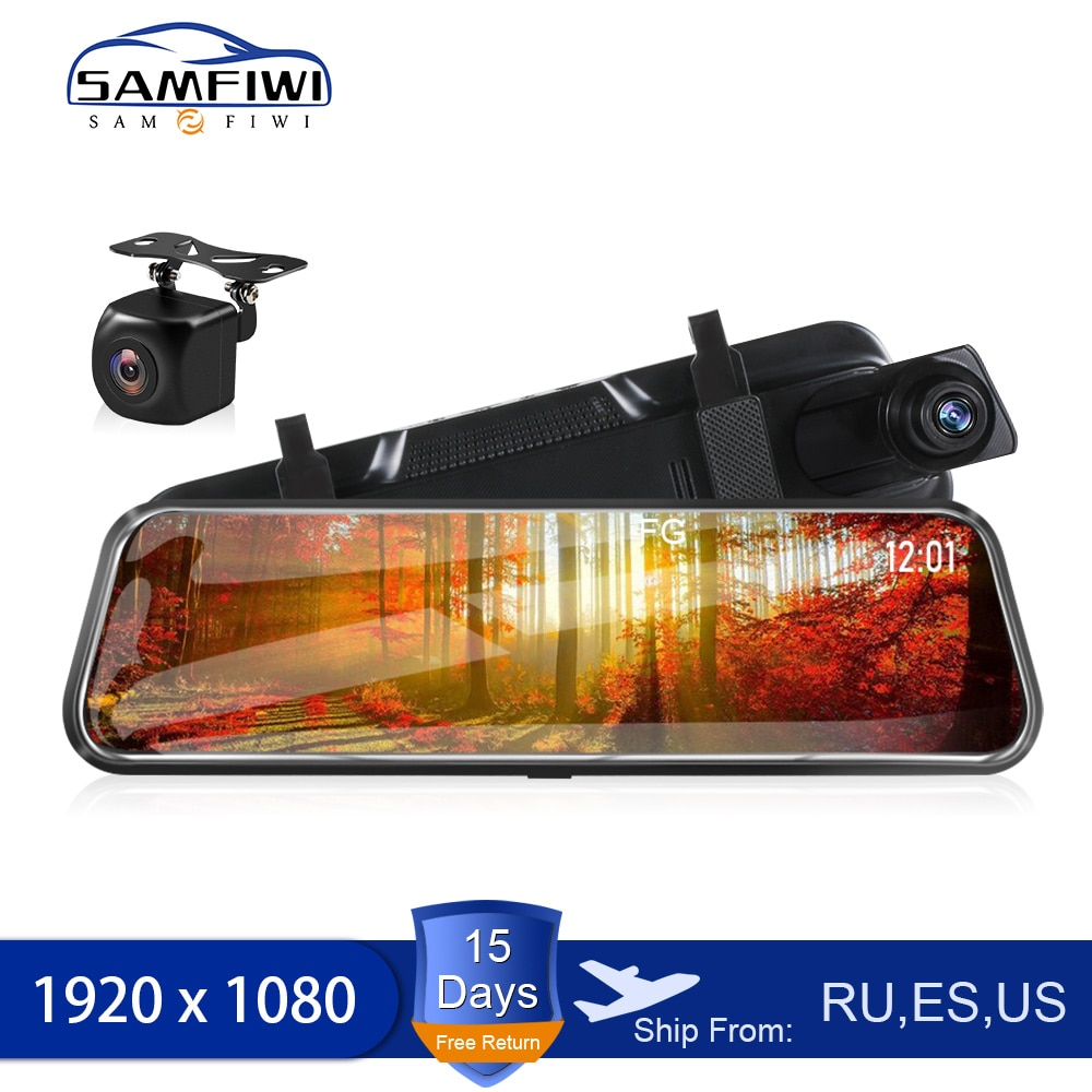 10 inch IPS Screen Car Dvr Mirror Dash Camera Dash Cam Car Camara Full Hd Drive Recorder Stream Rear View Mirror Auto Registrar