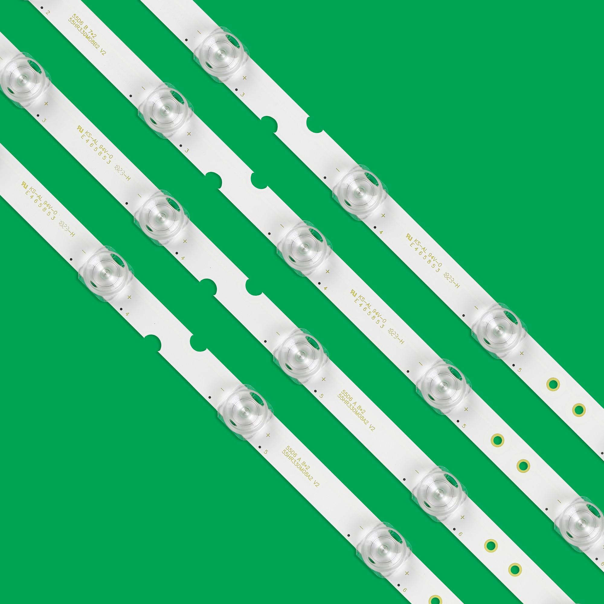 100set=400pcs LED Backlight strip for TCL 55P65US 55U3800C 55P65 55D6 55F6 55L2 4C-LB5507-PF02J HR03J 55HR330M07B2 55HR330M08A2 enlarge
