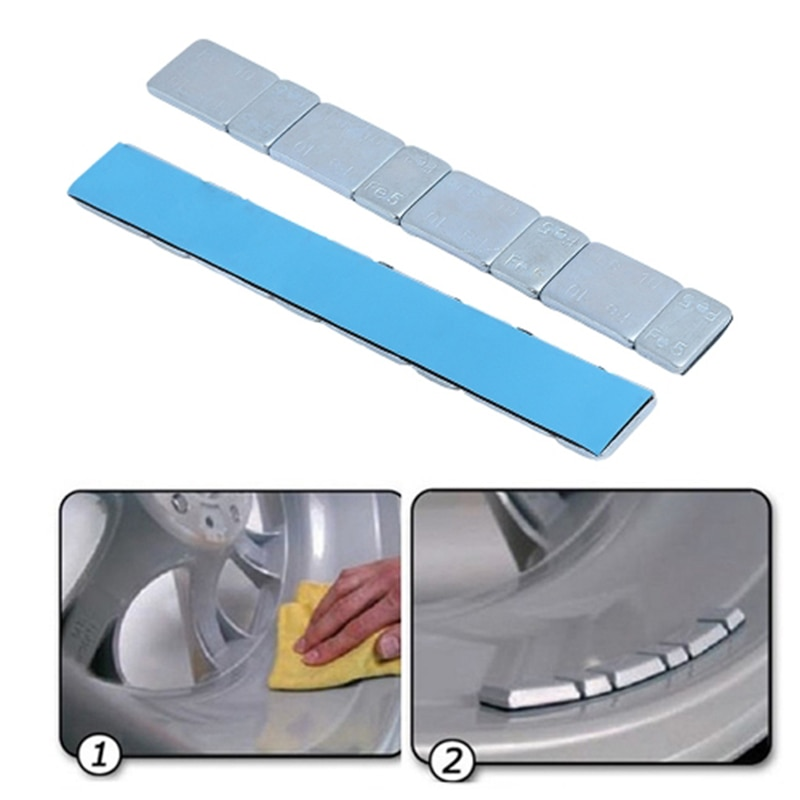 1pcs 60g 5.9'' Universal Adhesive Wheel Tire Balance Weights Tire Strips Self Adhesive Exterior Parts Replacement Accessories