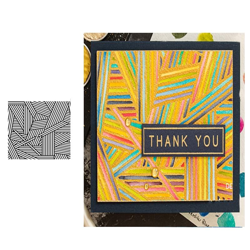 Jc selo de borracha claro silicone selos scrapbooking listra folha de fundo papel modelo cartão fazer ofício novo selo 2020 decoração