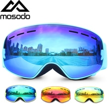 Mosodo Kid Ski Goggles Small Size For Children UV400 Anti-fog Glasses skiing Girls Boys Snowboard Large Spherical Child Goggles