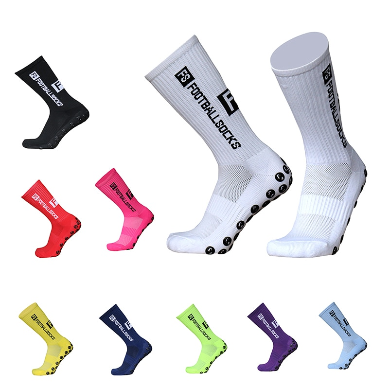 New Style FS Football Socks Round Silicone Suction Cup Grip Anti Slip Soccer Socks Sports Men Women