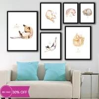 Toile de decoration de noel  affiches danimaux  tableau dart mural de chat pour decoration de salon  decoration de maison