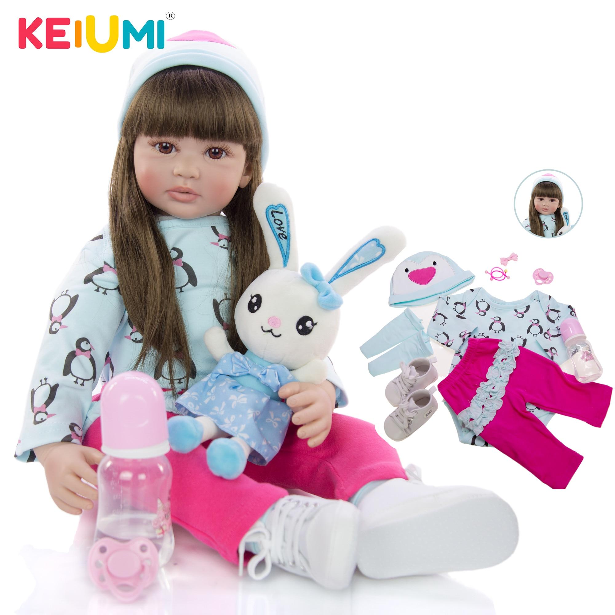 24 Inch Fashion Reborn Dolls Menina Long Hair Truth Like 60 cm Princess Reborn Boneca Stuffed Doll Baby Toy Child Birthday Gifts
