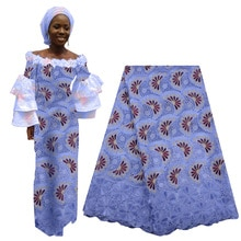 Latest African Cotton Lace Fabric Swiss Lace Fabric High Quality French Nigerian Tulle Lace with Sto