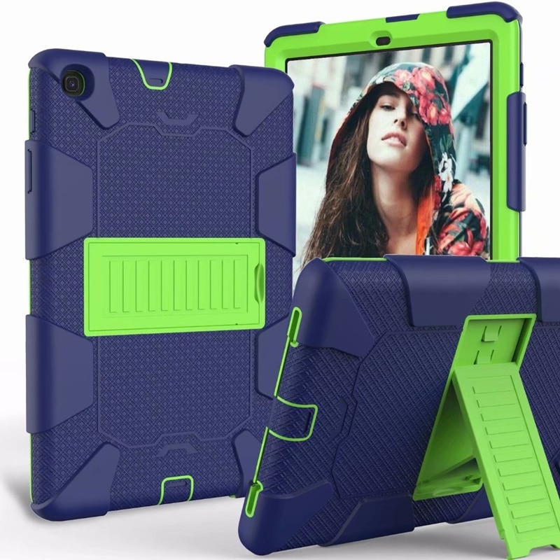 Case For Samsung galaxy Tab A 10.1 2019 SM-T510 T515 Cover Tab A T510 case Kids Safe Rubber Silicone Shockproof Armor Stand Case