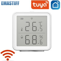 Tuya WIFI Smart Home Temperature And Humidity Sensor With LED Screen Works With Home Assistant Alexa and Smart Life