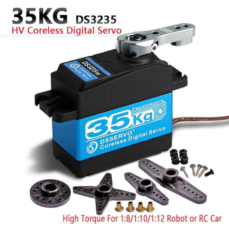 35kg /25kg High Torque Coreless Digital Servo DS3235 and DS3225 Stainless SG Waterproof for Robotic