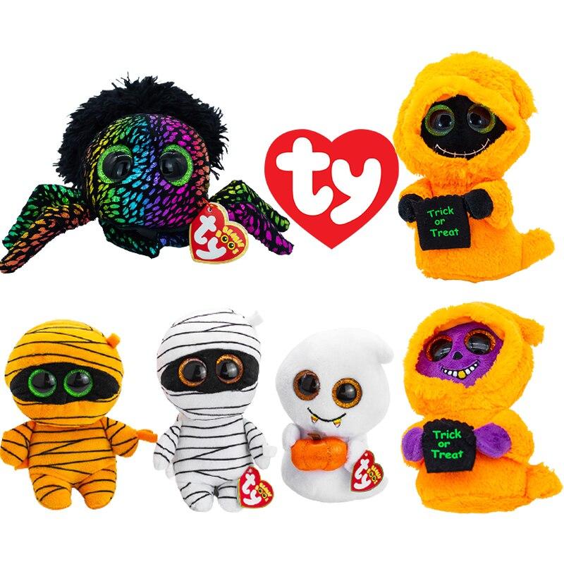 Ty Beanie Series мягкие игрушки жнец паук летучая мышь мамина мальчик девочка подарок на Хэллоуин 15 см