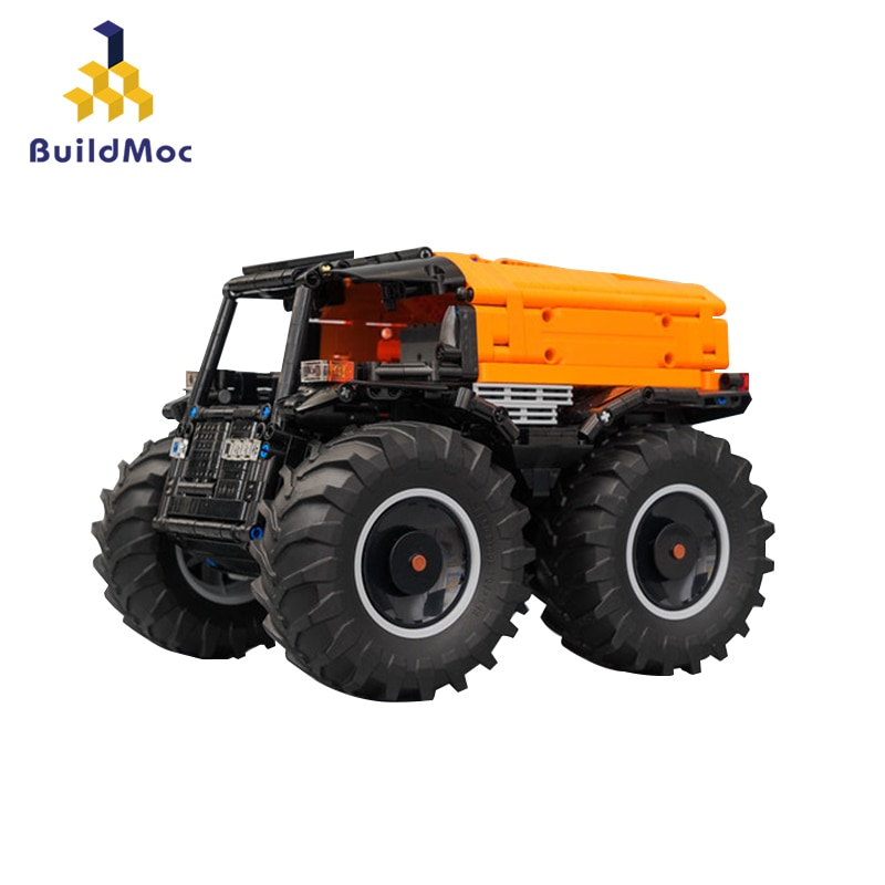 BuildMOC ATV Cars Vehicle RC Motor Power Function MOC-10677 Fit Educational Kids Technical Building