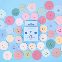 Mohamm  45 PCS Boxed Stickers Small Expression Series Creative Cute Decoration Sticker Flakes Scrapbooking Gift Girl School Supp