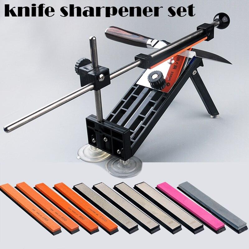 Набор инструментов для заточки ножей, 1 набор, профессиональная точилка для ножей с фиксированным углом, шлифовальный камень, алмазная шлиф...