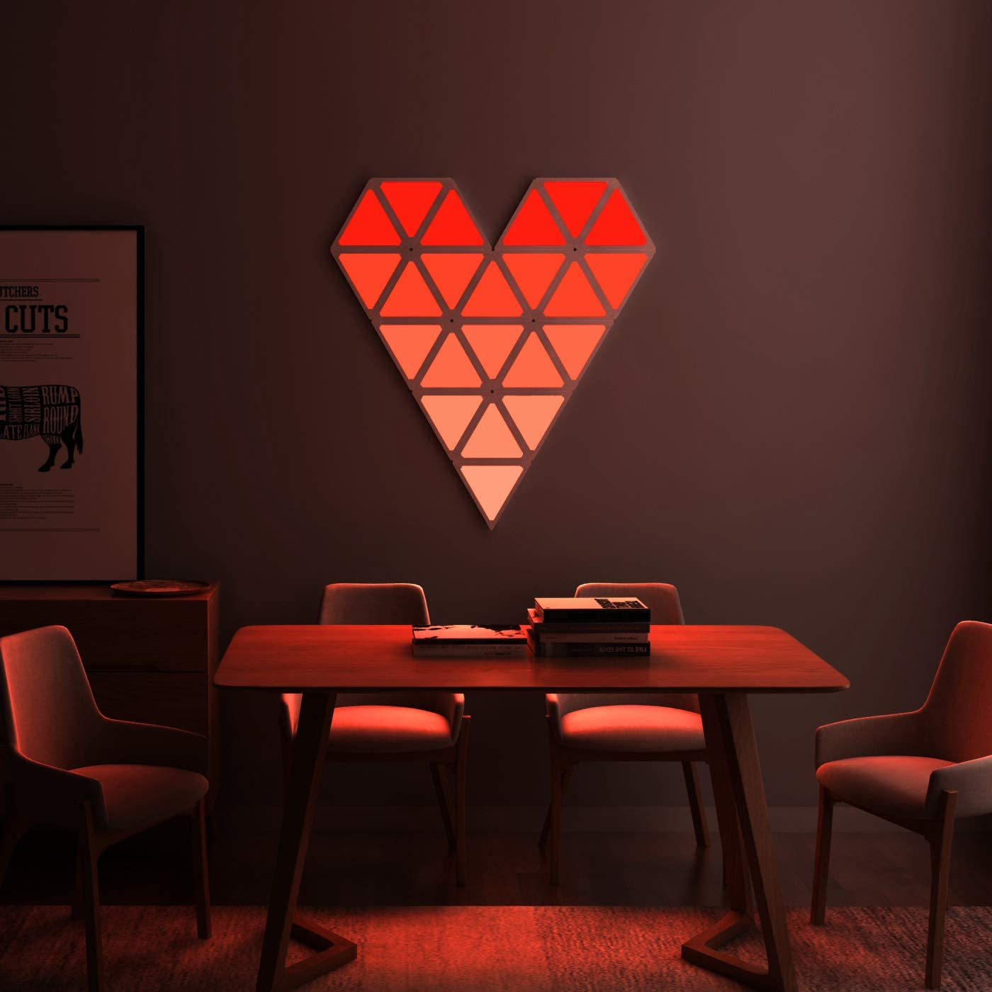 Triangle Wall Light Smart LED Modular Light Panels Touch-Sensitive Multicolor RGBW Night Light for Room Gaming Room Party Decor enlarge