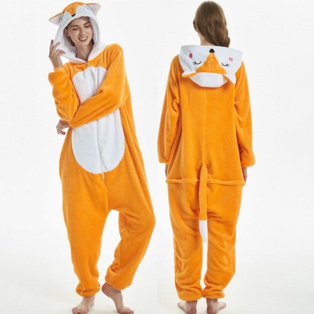 Pijama de zorro pijama de animales adultos Onesie mujer ropa de dormir Onepiece Onesies para adultos invierno pijamas de animales