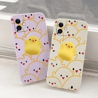 chick cubs liquid phone case for iphone 12 pro max mini 11 pro max x xr xs max camera soft back cover on se2020 8 7 6 6s plus