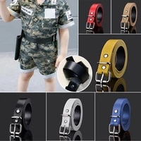 children leather belts for boys girls kid waist strap waistband easy metal buckle for jeans pants trousers adjustable belt