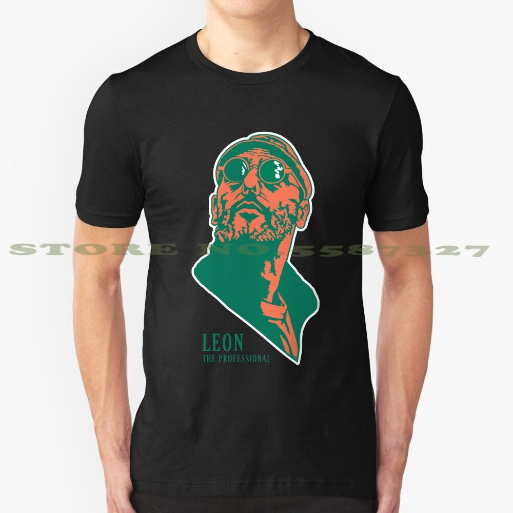 Leon diseño de moda camiseta Leon profesional Matilda Jean Reno Natalie Portman limpiador de Luc Besson Gary Oldman