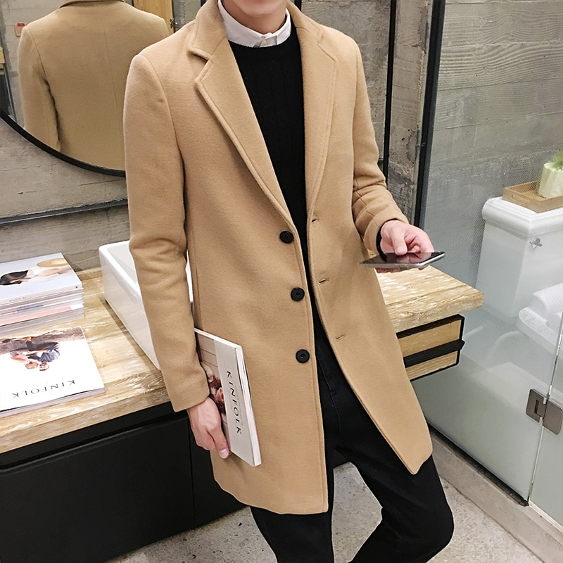 Quality Men Coat Winter Jackets Outwear Long New Fashion Male Casual Trench Large S Down