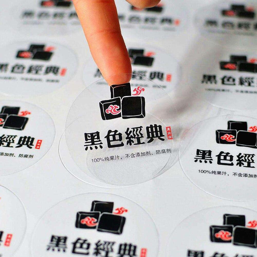 Прозрачный клей для печати, прозрачная наклейка, различные формы на заказ, можно напечатать белые чернила