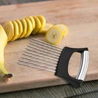 Couteau pour couper les oignons  couteau pour couper les fruits et legumes  aide a la coupe des tranches et des legumes en acier inoxydable