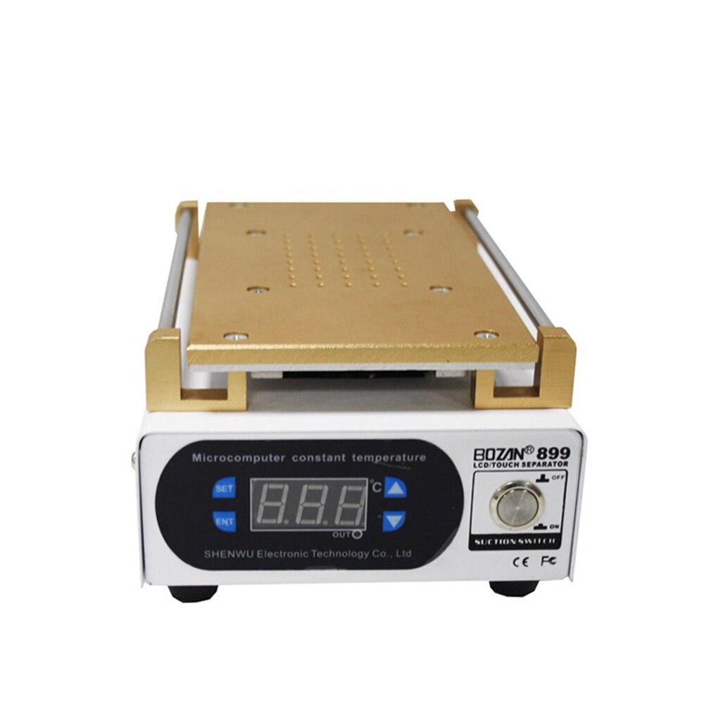 جهاز فصل شاشة الهاتف الخلوي مقاس 7 بوصات ، متحكم في درجة الحرارة ، وشاشة LCD عالية الدقة ، وفاصل فراغ رقمي BOZAN 888