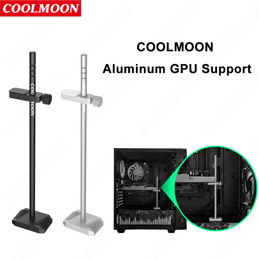 Coolmoon Metal GPU Bracket Graphic Card Holder Desktop PC Case Video Card Stand Support Rack for ATX ITX Chassis Accessories