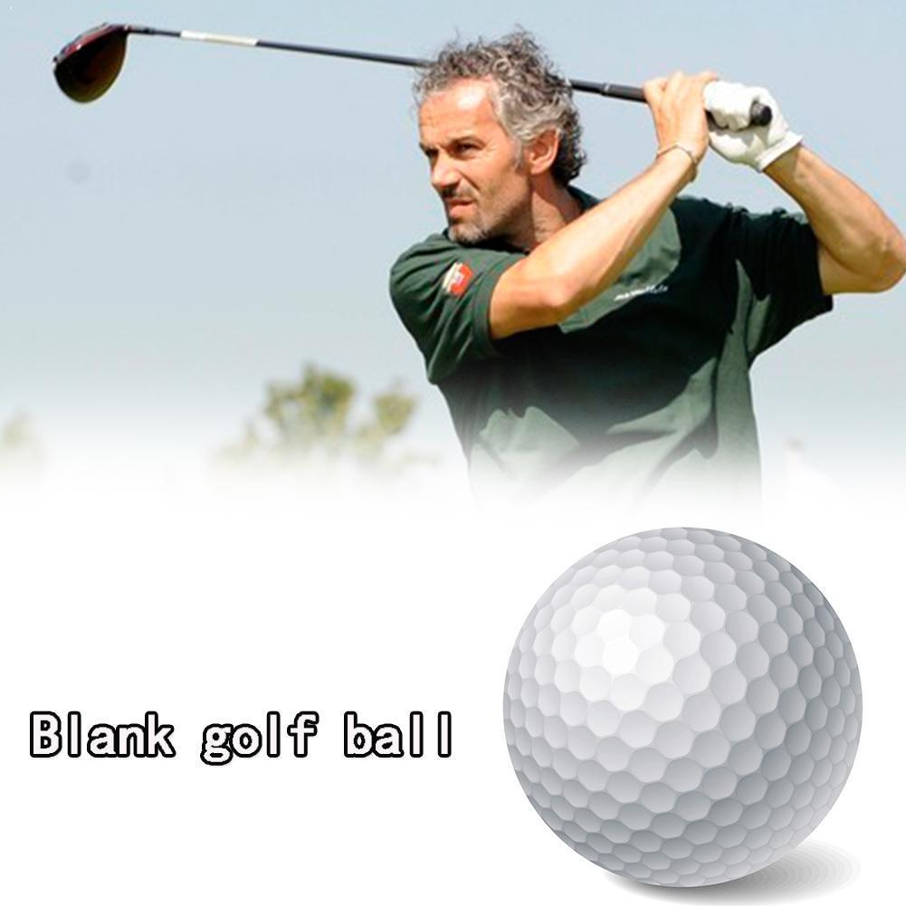 1pc Weiß Golf Ball Praxis Gummi Zwei Stück Ball Turnier Neue Blank Ball Professionelle J7N9