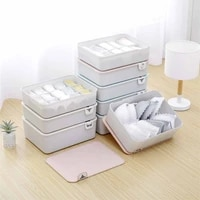 lidded underwear organizer storage box closet wardrobes sorting box with label separated box for socks bras underpants storage