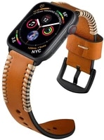 compatible with apple watch band 44mm series 5 leather bands for iwatch 4 3 2 1 men women handmade vintage replacement strap