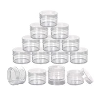 20pcs mini size jars 20g empty cream jars leak proof toiletry containers for traveling cream packaging