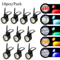 10pcspack eagle eye daytime running light led bright light drl driving reverse backup light motorcycle fog lamp headlight