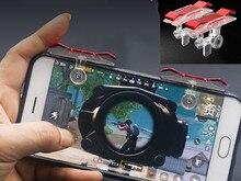 Juego para teléfono móvil E9, 2 unids/lote, controlador de botón de disparo y Joystick, empuñadura de juego de supervivencia, disparadores R1L1 para cuchillos de salida/PUBG/reglas