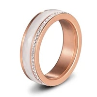11 11 stainless steel flat ring cubic zirconia combination ring size choice for women to attend party occasions wholesale price