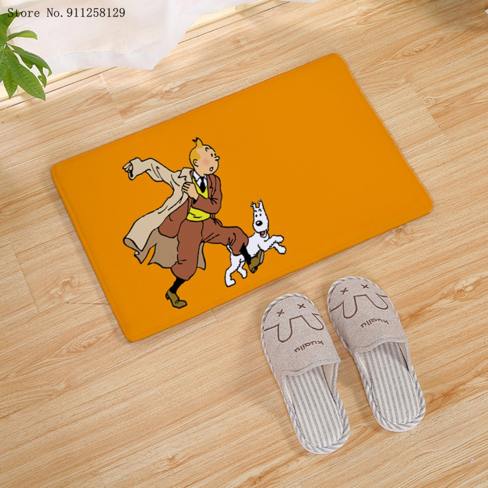 The Art Of The Adventures Of Doormat Animation Doormat 3D Print Cartoon Carpet The Secret Of The Unicorn Floor Rug Kids Gift Rug dolphins playing print nonslip floor rug