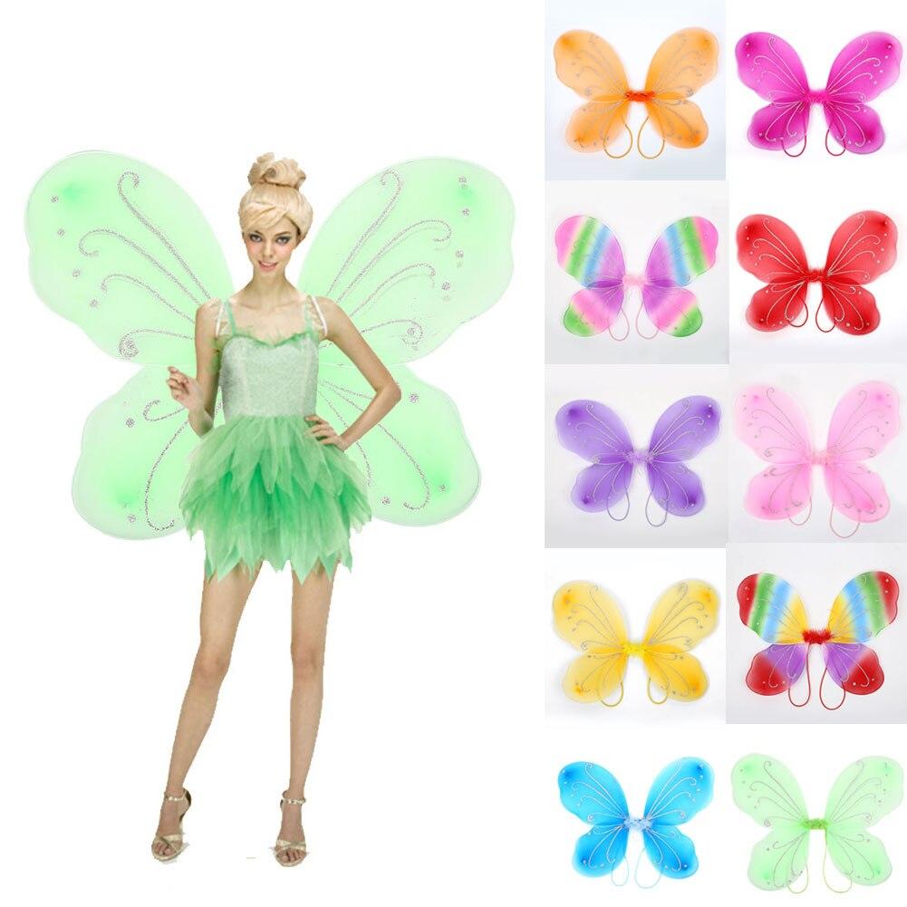 Elfo ala hadas 42*31cm foto accesorios mariposa alas vestir hasta 10 colores adultos DIY decoración niñas regalo de Navidad