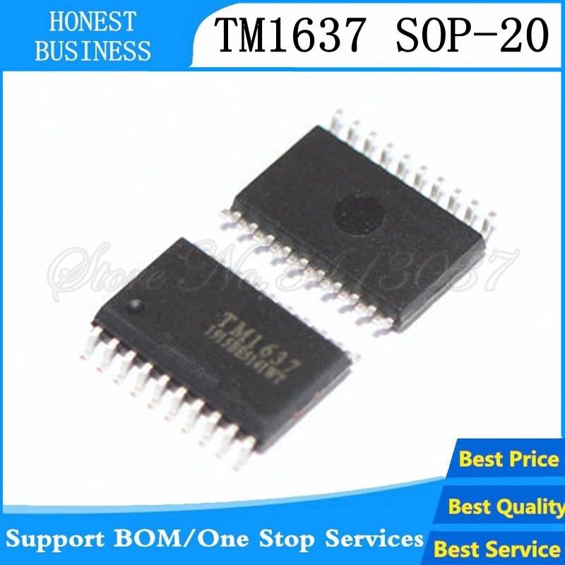 20 pces-100 pçs/lote tm1637 sop-20 sop20 smd 100% novo original ic led chip de driver de tubo digital