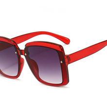 2021 sunglasses women vintage retro flat top Shadow oversized square sunglasses luxury brand large s