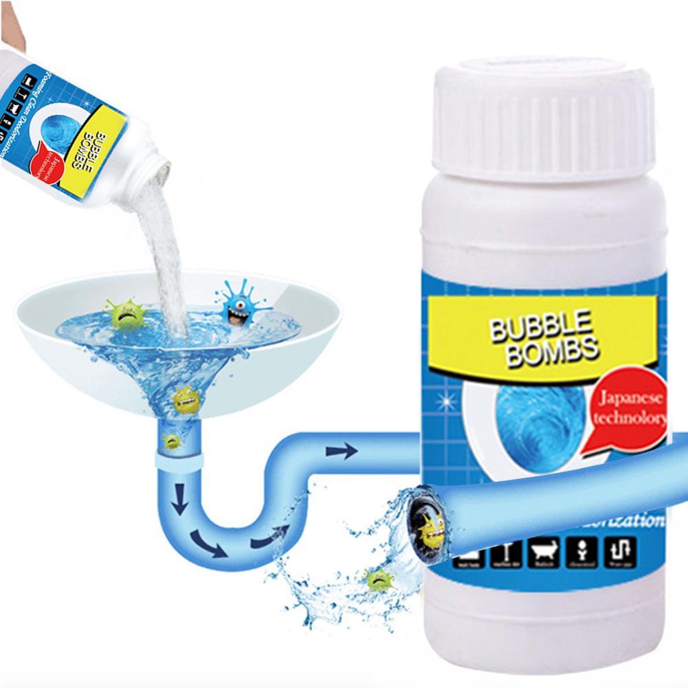 Nuevo limpiador de baño de espuma rápida bombas de burbujas mágicas 1 botella agente de dragado rápido de espuma limpiadores de drenaje de inodoro hogar