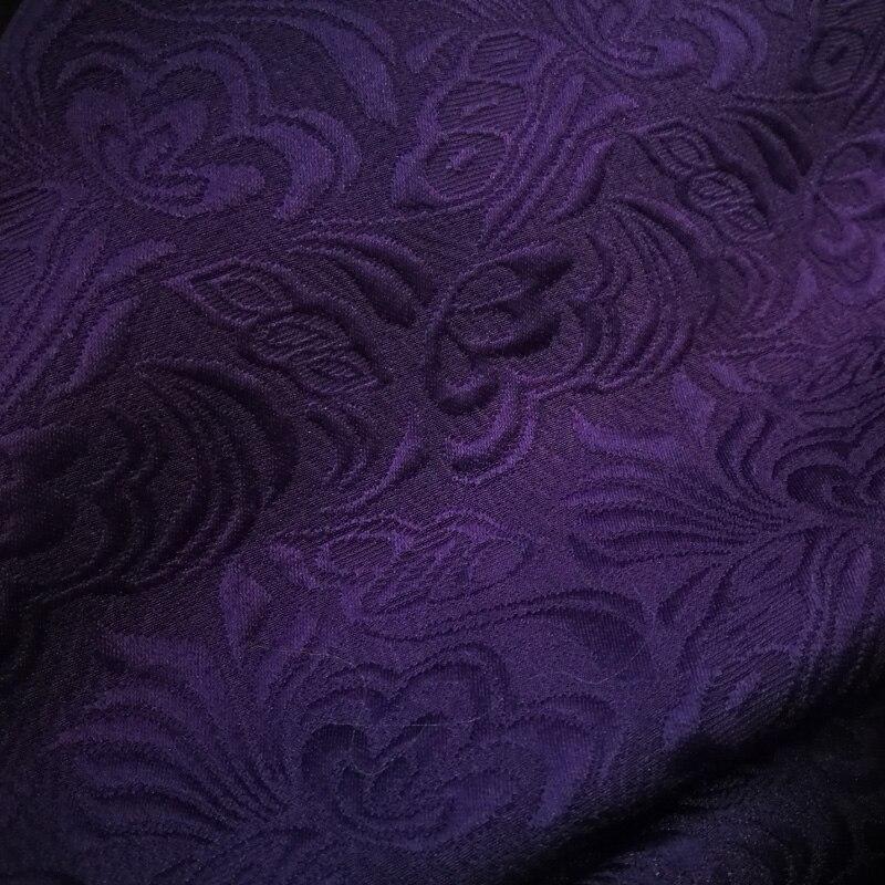 100cm * 145cm material étnico en relieve de algodón grueso poli traje de tela púrpura