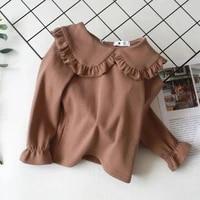 girls cotton t shirt spring new childrens fashion long sleeve t shirt baby wearing knitwear kids bottoming shirt