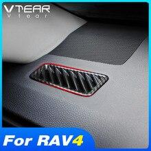 Vtear для тойота рав 4 Toyota RAV4 2019 2020 2021 аксессуары для интерьера центральная консоль кондиционер вентиляционное отверстие украшение крышка отделка наклейка автомобильные товары