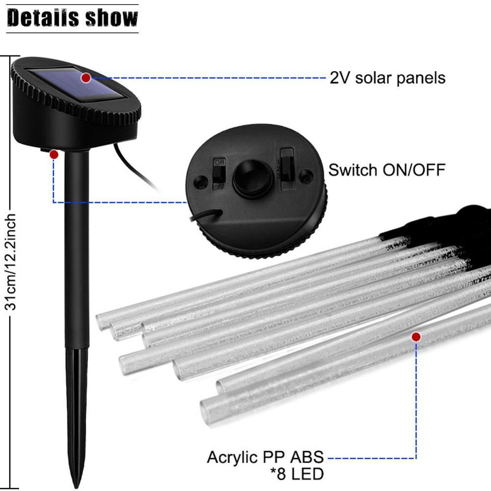 Solar Garden Lights Outdoor, 1set Solar Tube Lights Solar Acrylic Bubble Light Waterproof Warm White LED Solar Lights enlarge