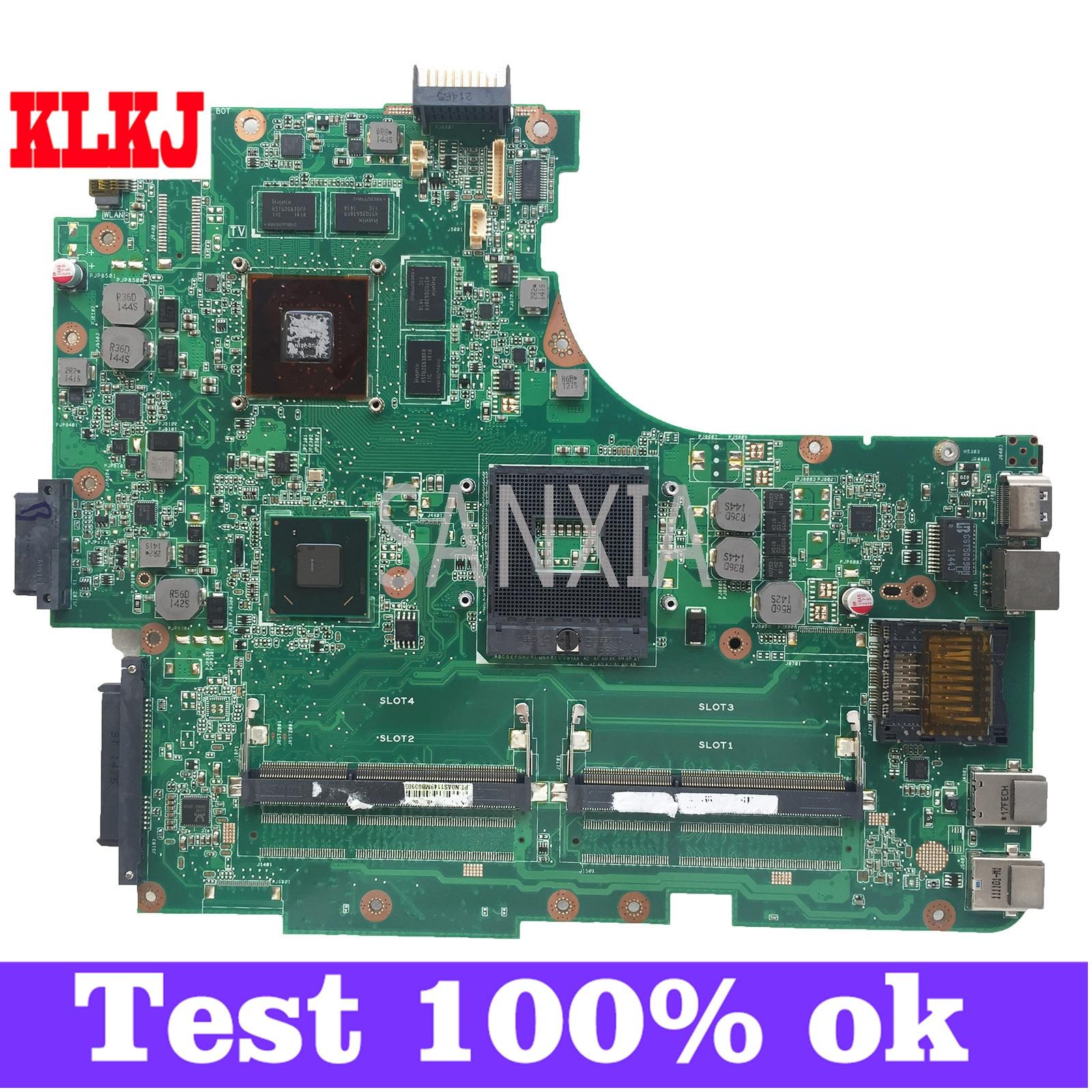 KLKJ N53SV اللوحة الأم لأجهزة الكمبيوتر المحمول ASUS N53SM N53SN N53S اللوحة الرئيسية الأصلية GT630M-2GB