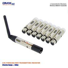 DHL شحن مجاني بالجملة عالية الجودة XLR اللاسلكية DMX512 تحكم ، DMX تحكم لاسلكي ، DMX512 اللاسلكية تحكم