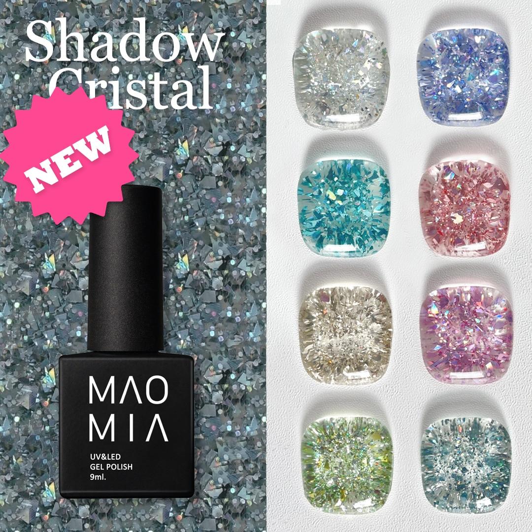 MAOMIA-Pintura de uñas de Gel con brillos, 12 colores, UV/LED, 9ML, manicura...
