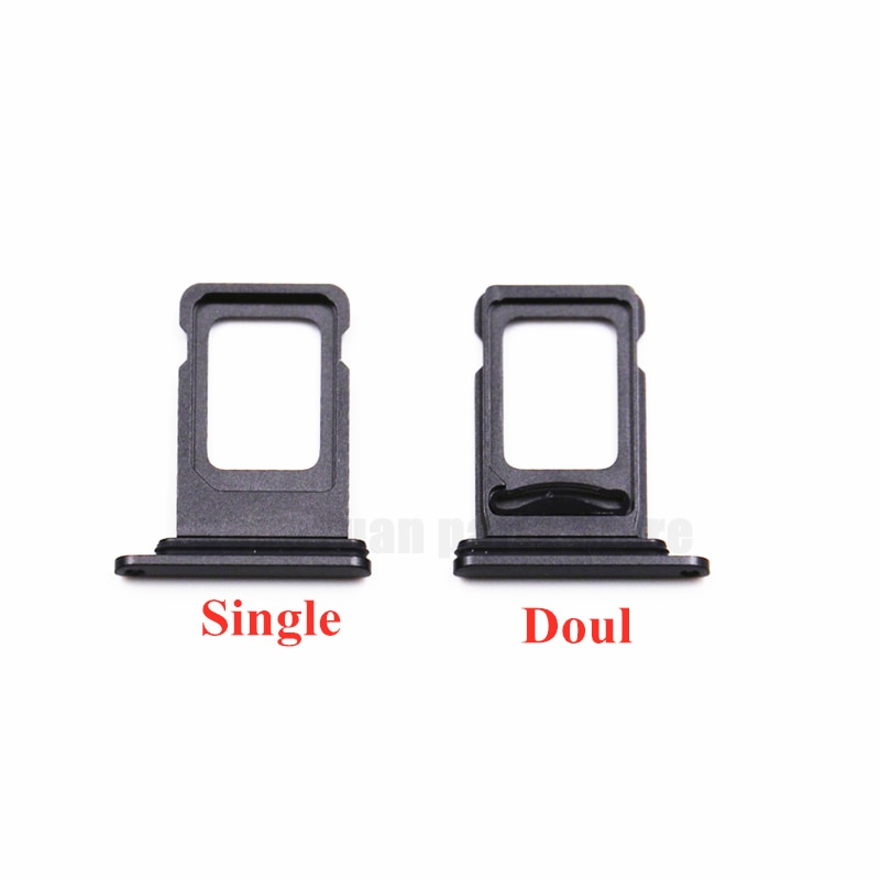 100pcs/lot Dual Single SIM Card Tray Holder For iPhone 12 SIM Card Slot Reader Socket Adapter With Waterproof Rubber Ring enlarge