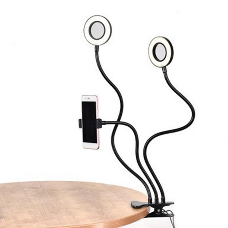 Cabezal de lámpara Dual 9cm transmisión en vivo dedicado Luz de relleno LED USB Clip pequeño modelo Selfie belleza lámpara grabación Vlog Video