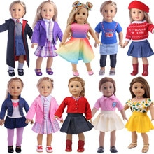 Doll Clothes New Arrivals Doll Baby Magic Uniform Dress Skirt For 18 Inch American&43 Cm Baby New Bo